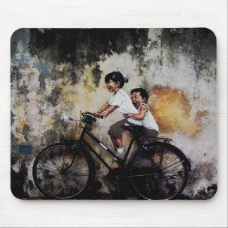 Mousepad Crianças na bicicleta, esteira do rato
