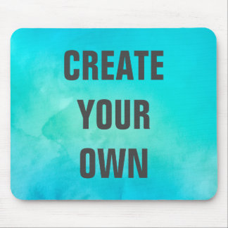 Mousepad Criar sua própria pintura da aguarela de turquesa