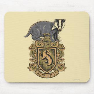Mousepad Crista de Harry Potter | Hufflepuff com texugo
