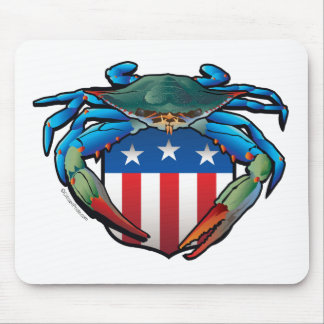 Mousepad Crista dos EUA do caranguejo azul