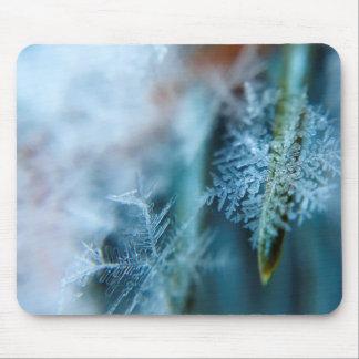 Mousepad Cristal de gelo, inverno, neve, natureza