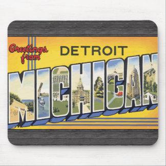 Mousepad Cumprimentos de Detroit Michigan, vintage
