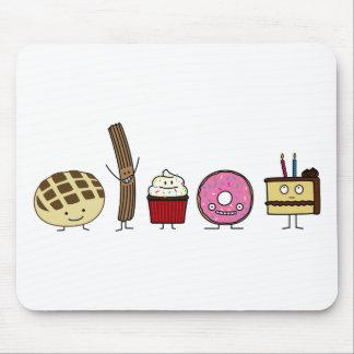 Mousepad Cupcake do bolo da rosquinha do churro do dulce da