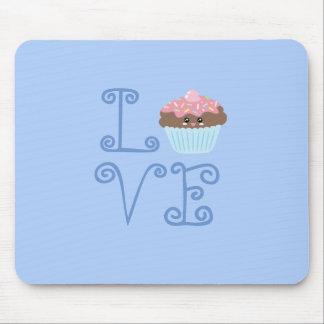 Mousepad Cupcake doce colorido feminino bonito do amor de