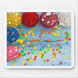 Mousepad cupcakes coloridos
