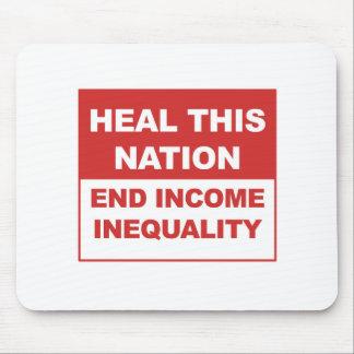 Mousepad Cure esta nação - desigualdade da renda do fim