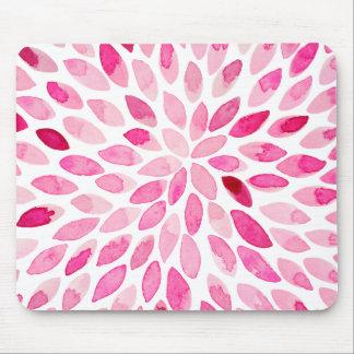 Mousepad Cursos da escova da aguarela - paleta cor-de-rosa