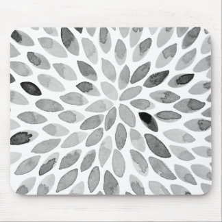Mousepad Cursos da escova da aguarela - preto e branco