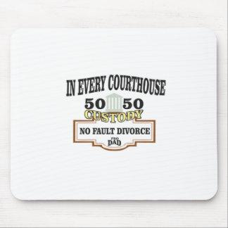 Mousepad custódia 50 50 em cada tribunal