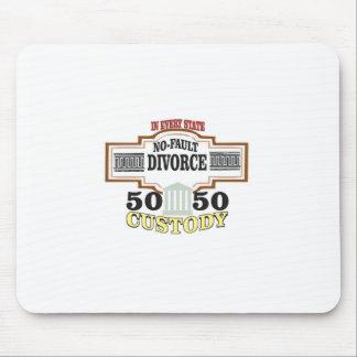 Mousepad custódia 50 50 no casamento