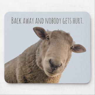 Mousepad Da parte traseira engraçada do aviso dos carneiros