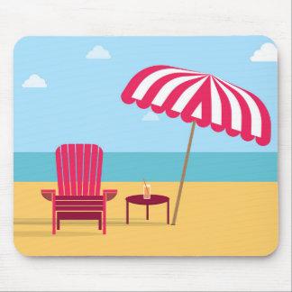Mousepad da praia da cadeira do verão