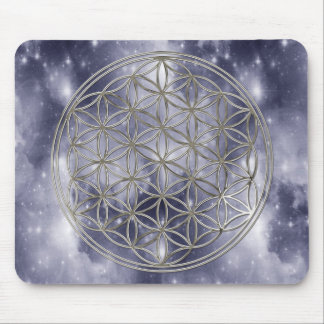 Mousepad Da vida/| flor a Flower Of Life silver heaven