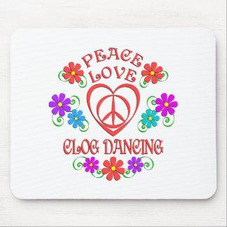 Mousepad Dança de obstrução do amor da paz