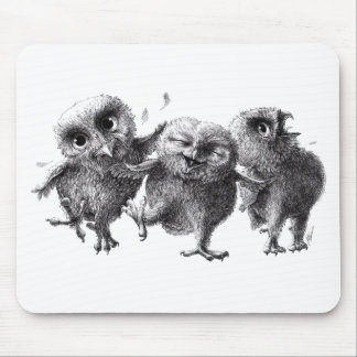 Mousepad Dancing and singing Owls