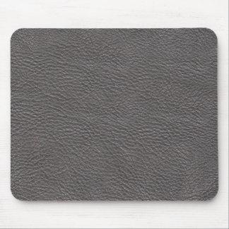 Mousepad de couro cinzento da textura