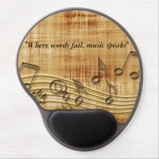 Mousepad De Gel A música nota o gel Mousepad