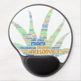 Mousepad De Gel Alove Vera ilustrada com as cidades de Florida EUA