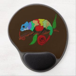 Mousepad De Gel Arte colorida Mousepad do camaleão
