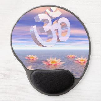 Mousepad De Gel Aum - OM em cima dos waterlilies - 3D rende
