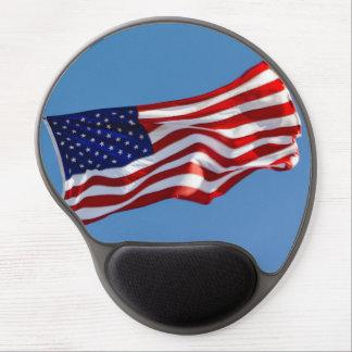 Mousepad De Gel Bandeira americana no vento