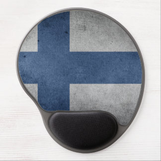 Mousepad De Gel Bandeira velha de Finlandia do Grunge do vintage