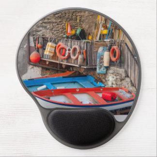 Mousepad De Gel Barcos em Cinque Terre Italia