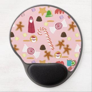 Mousepad De Gel Bastões e chocolates de doces no rosa