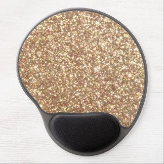 Mousepad De Gel Brilho metálico do ouro cor-de-rosa do cobre