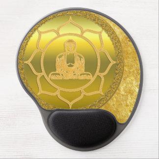 Mousepad De Gel Buddha que faz a folha de ouro espiritual da