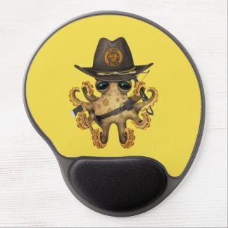 Mousepad De Gel Caçador bonito do zombi do polvo do bebê