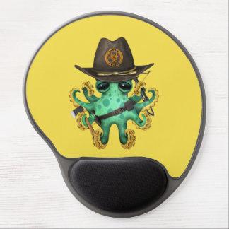 Mousepad De Gel Caçador verde do zombi do polvo do bebê