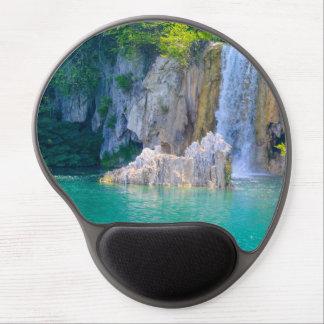 Mousepad De Gel Cachoeira no parque nacional de Plitvice em