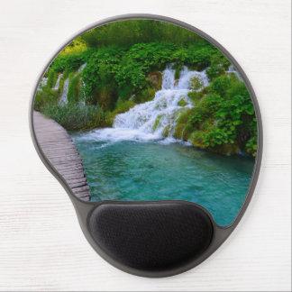 Mousepad De Gel Cachoeiras no parque nacional de Plitvice em