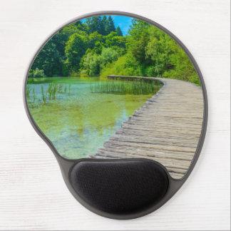 Mousepad De Gel Caminhando o trajeto no parque nacional de