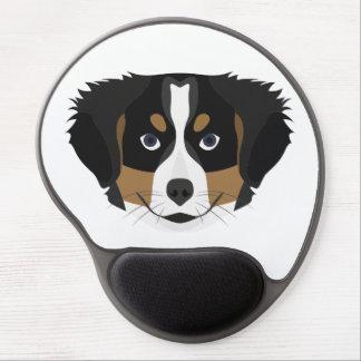 Mousepad De Gel Cão de montanha de Bernese da ilustração