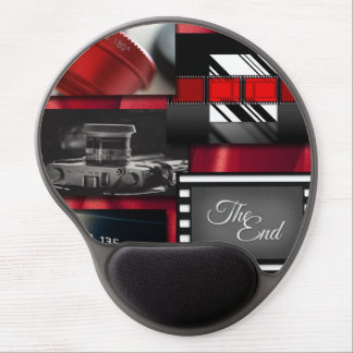 Mousepad De Gel Colagem preta & branca vermelha do filme
