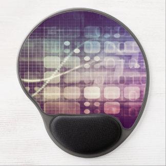 Mousepad De Gel Conceito abstrato futurista na tecnologia