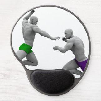 Mousepad De Gel Conceito das artes marciais para a luta e a