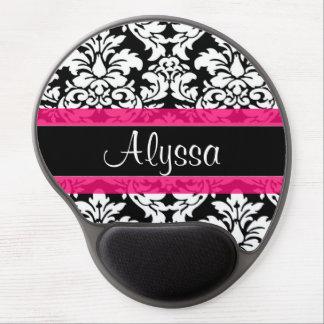 Mousepad De Gel Damasco cor-de-rosa personalizado