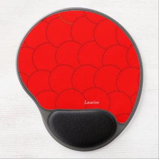 Mousepad De Gel Design vermelho da bolha