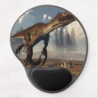Mousepad De Gel Dinossauro de Utahraptor no deserto - 3D rendem