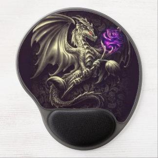 Mousepad De Gel Dragão de bronze com gel cor-de-rosa Mousepad