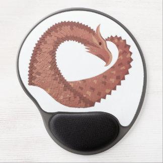 Mousepad De Gel Dragão do coração de Brown no branco