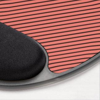 Mousepad De Gel Eco do pêssego e listra preta