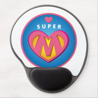 Mousepad De Gel Emblema engraçado da mamã do Superwoman do