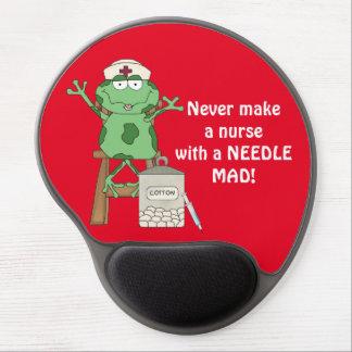 Mousepad De Gel Enfermeira engraçada do sapo com agulha Mousepad