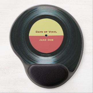 Mousepad De Gel Etiqueta preta do registro da música do vinil