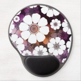 Mousepad De Gel Flower power roxo Funky