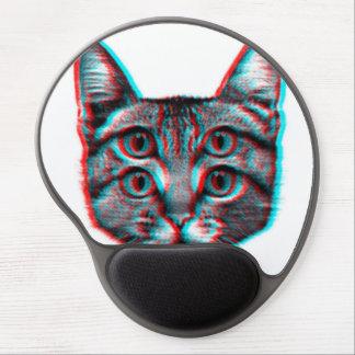 Mousepad De Gel Gato 3d, 3d gato, gato preto e branco